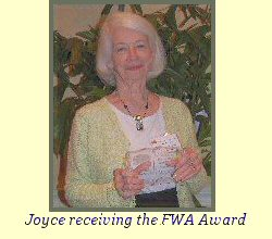 Joyce receiving the FWA Award